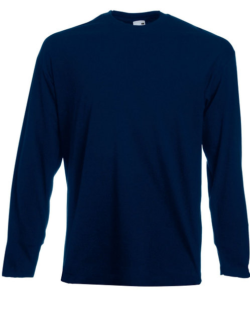 Fruit of the Loom Crew Neck T-Shirts Long Sleeved