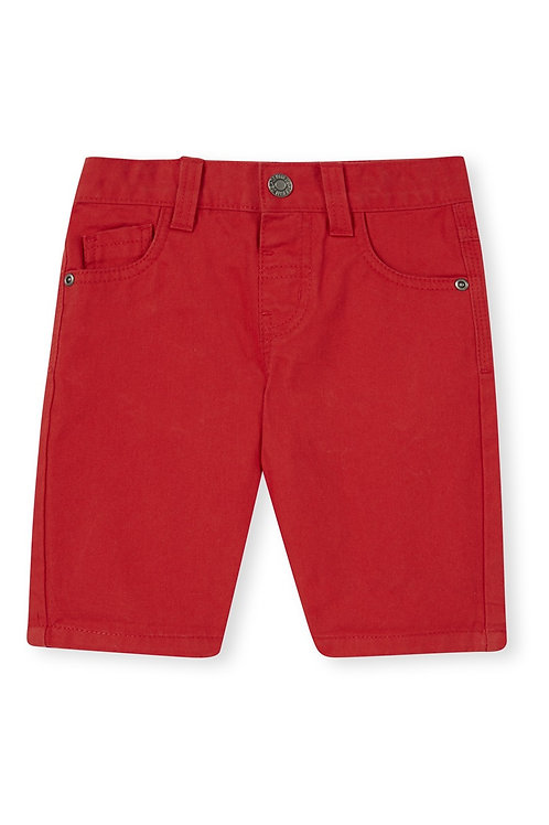 Rebel - Red Twill Shorts