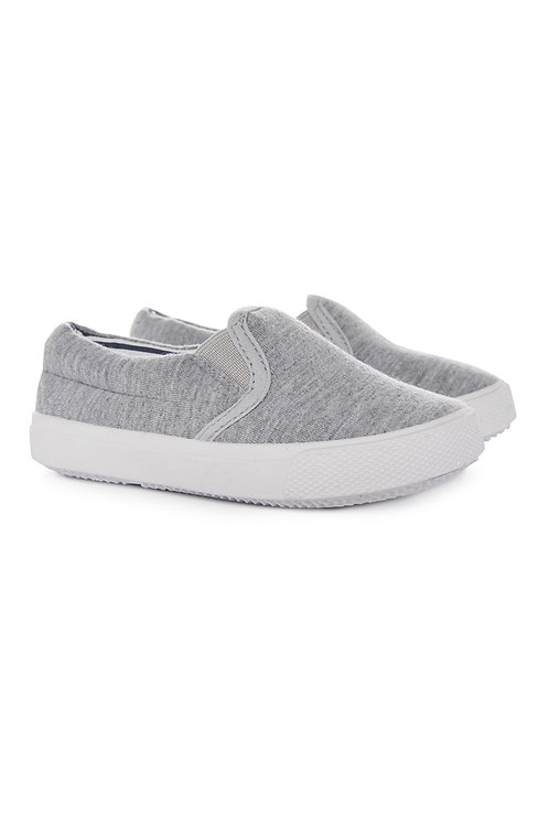 Early days - grey jersey slipon trainer