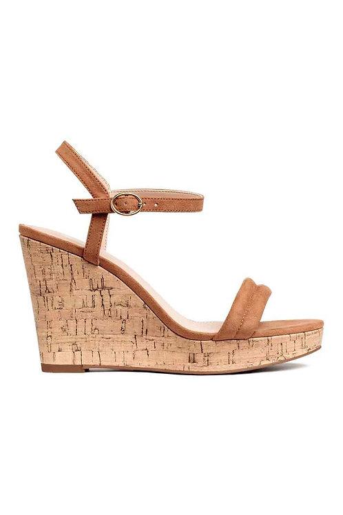 Light brown Wedge-heel sandals by H&M