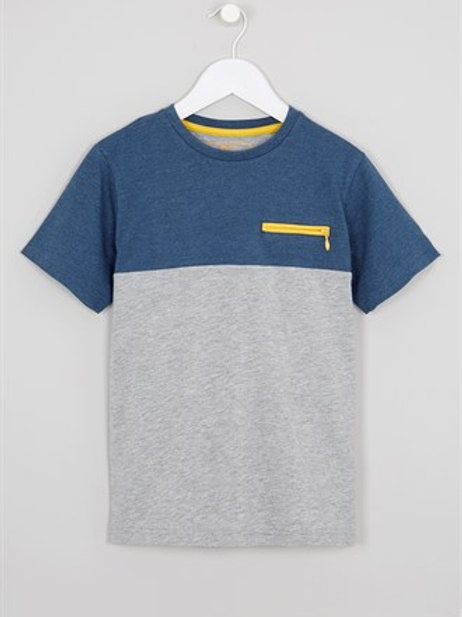 Grey Boys Zip Pocket T-Shirt from Matalan