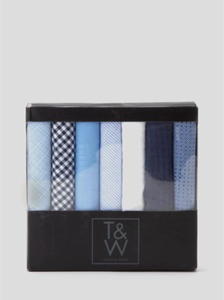 7 Pack Hankies - Blue