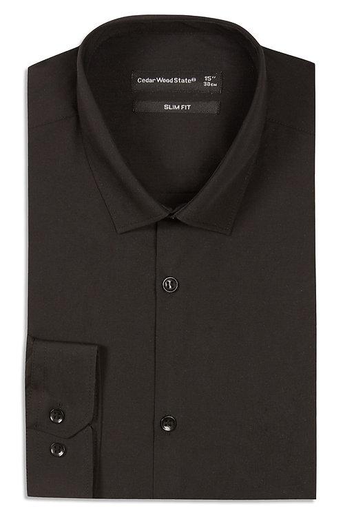 Slim Fit Black Shirt