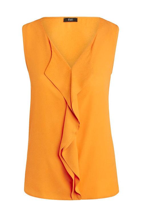 Mustard Yellow F&F Ruffle Detail Sleeveless Blouse