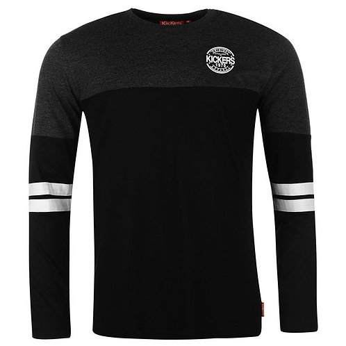 Kickers Long Sleeve Cut and Sew Tee Men's - Black