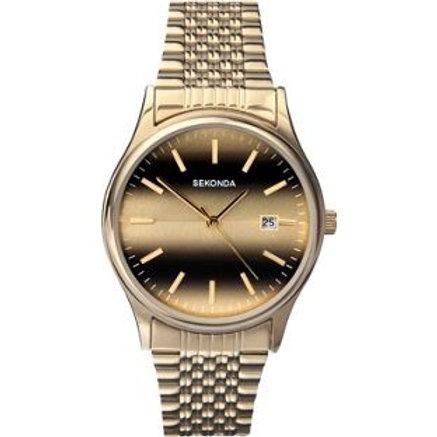Sekonda Men's Gold Plated Tiger Eye Watch