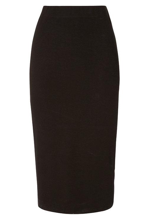 Plain black Midi Tube Skirt by F & F