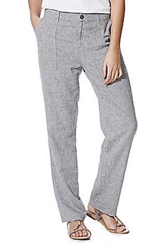 F&F Linen Blend Trousers