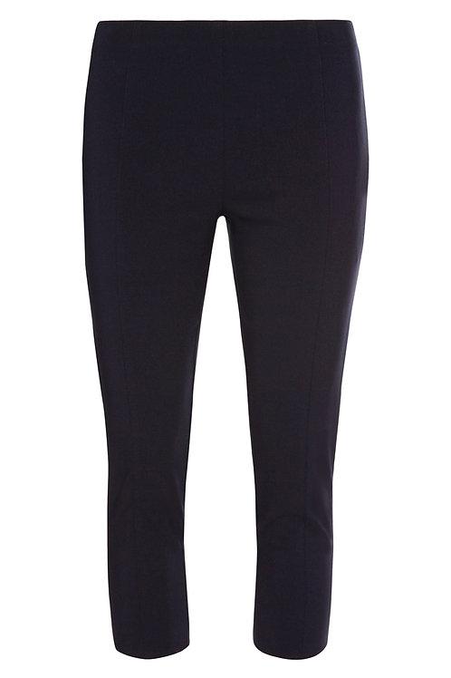 Navy Bengaline Crop Trousers