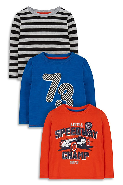 Early Days Baby Boy 3PK Racer Top