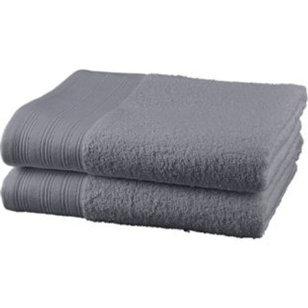 ColourMatch Pair of Bath Towels - Flint Grey
