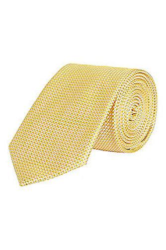 Yellow Textured Regular Width Tie