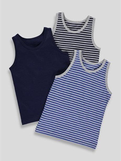 Boys 3 pack vest tops