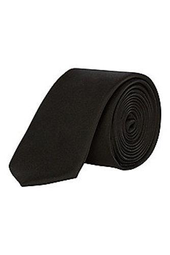 Black F&F Textured Skinny Tie