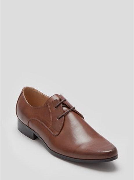 Tan PU Lace Up Shoe
