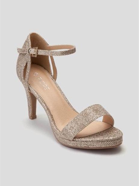 Matalan - strappy platform sandal in gold