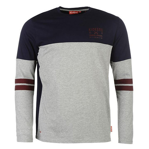 Kickers Long Sleeve Cut and Sew Tee Men's - Grey