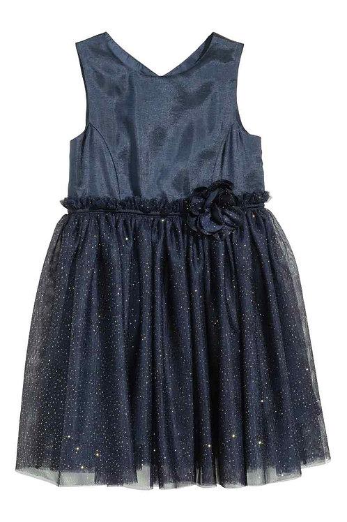 H &M Glittery tulle dress