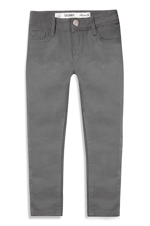 Grey Twill Skinny Jeans