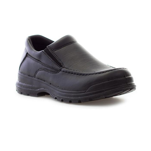 Boys DemoMax Black Slip On Shoe