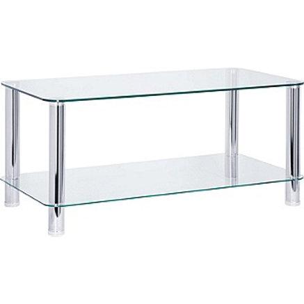 Hygena Matrix Coffee Table - Clear Glass