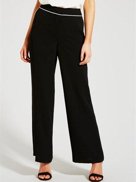 Wide Leg Trousers - Black
