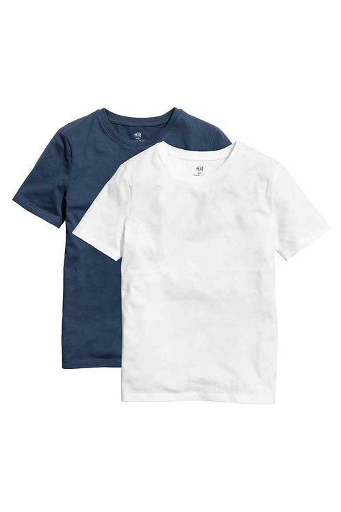 Blue and white 2-pack T-shirts