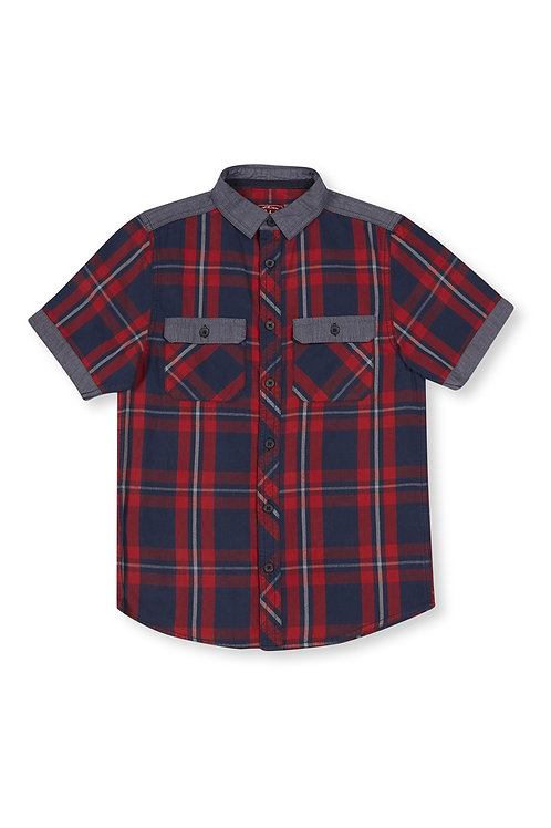 Rebel - Red Denim Check Shirt