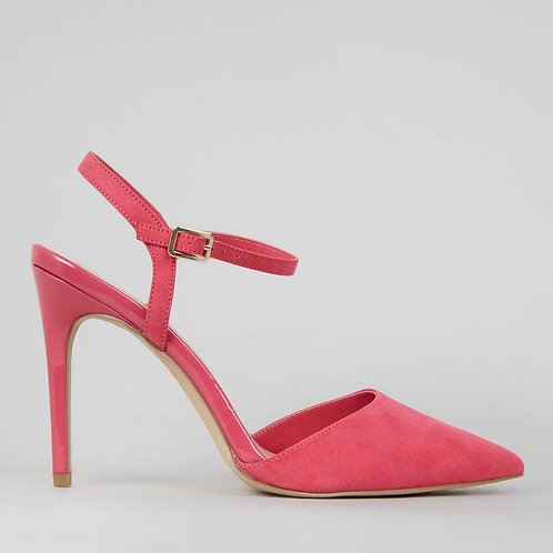 Pink Ankle Strap Pointed Court Shoes by New Look