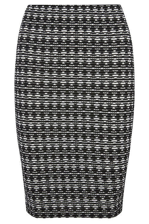 Black And White Jaquard Pencil Skirt by Atmosphere