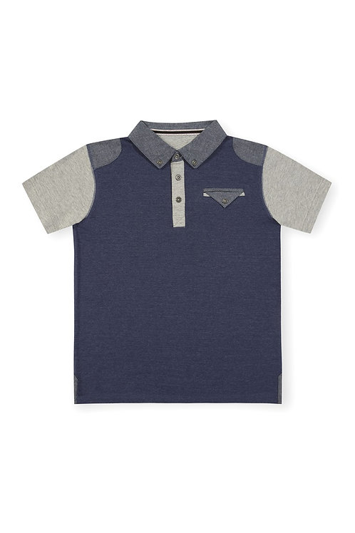 Rebel - Blue And Grey Polo Shirt