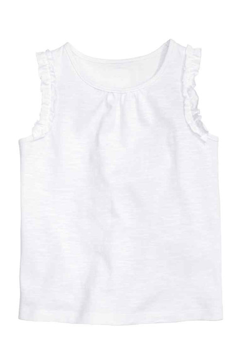 H&M White Top with frills