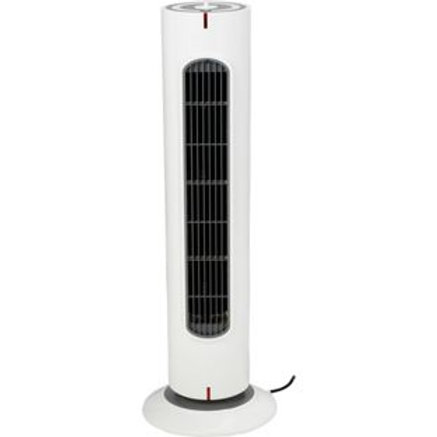 White Oscillating Tower Fan