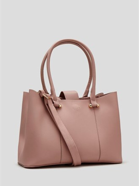 Compartment Tote Bag - Pastel Pink