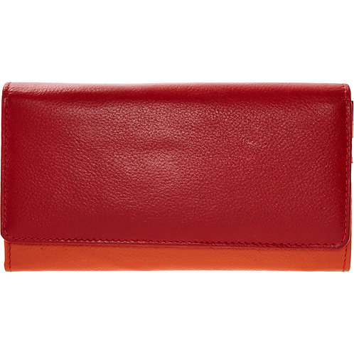 GALUNSKI Red & Orange Leather Purse
