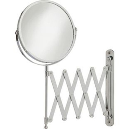 HOME Extendable Round Chrome Shaving Mirror