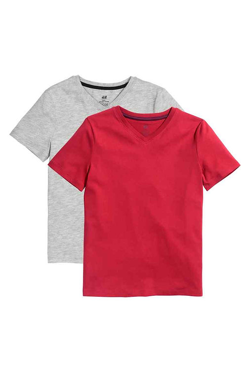 Red and Grey 2-pack T-shirts