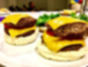 Last night we made double cheese burgers