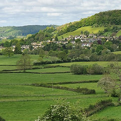 Uley village from Owlpen