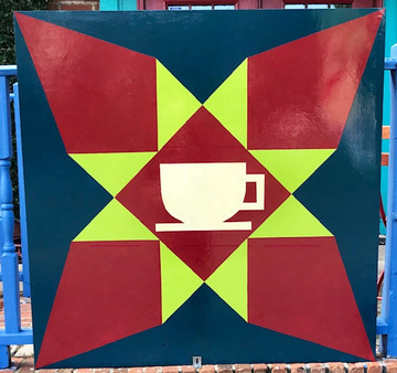 Poppy's Coffee Shop Quilt Mural