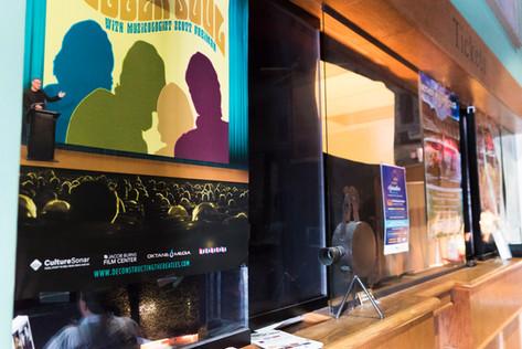 All Saints Cinema Interior: Poster Wall