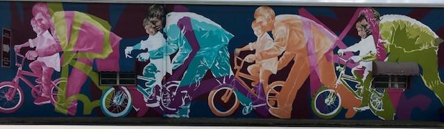 Cycling Mural on Main Street