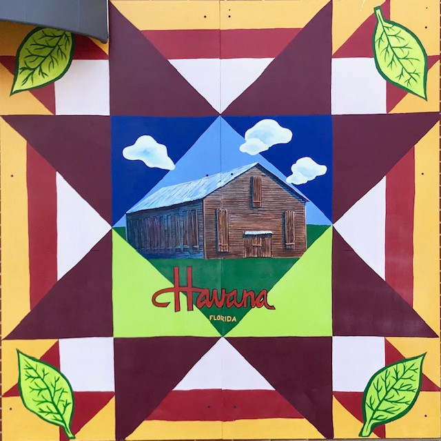 Shade Tobacco Barn Quilt Mural