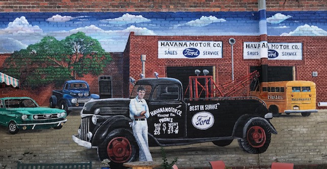 Historic Ford Dealership and Garage Mural