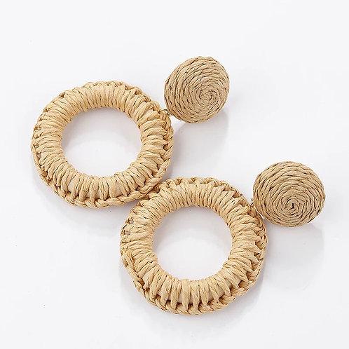 Handmade Braided Circle Earrings