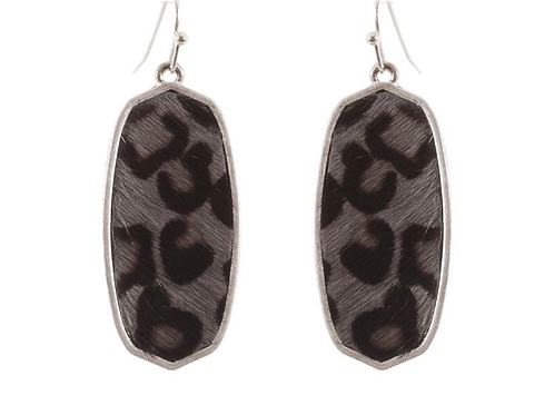 Leopard Oval earrings