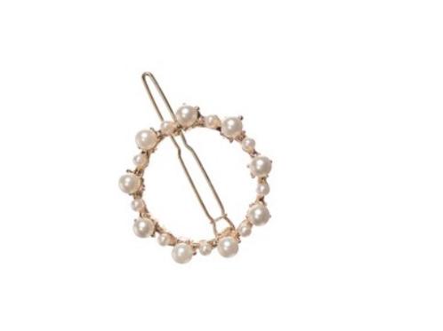 Pearl circle hair Clip