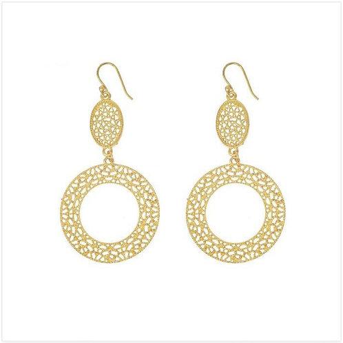 Zara Gold Lace Earrings