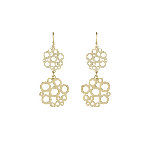 Small Double Floral Earrings