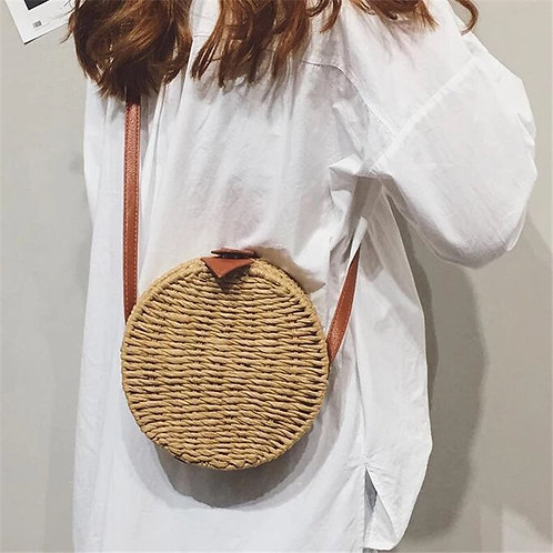 Round Bali Basket Bag